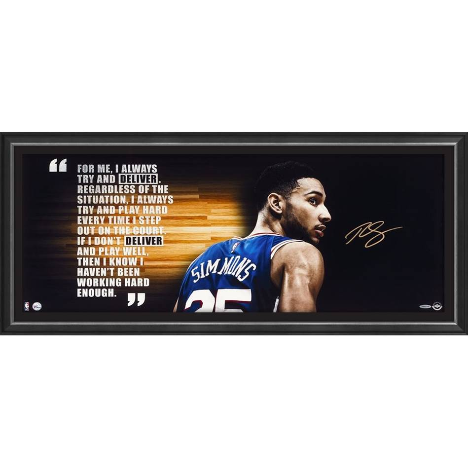 mainBen Simmons Signed 'Deliver' - Colour0