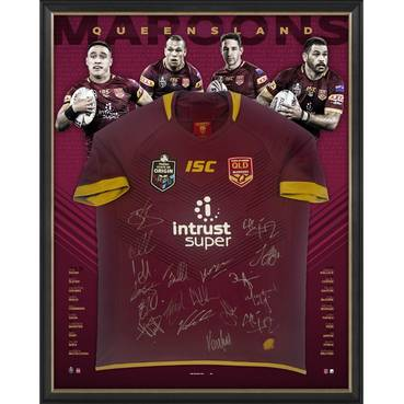 Queensland Maroons 2018 State of Origin Squad Signed Jersey