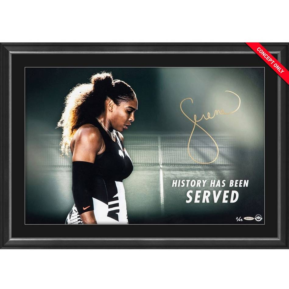 mainSerena Williams Signed 'History Has Been Served'0