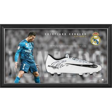 Cristiano Ronaldo Signed Boot Display