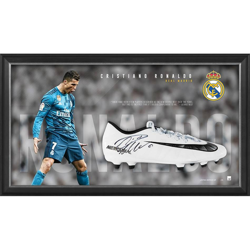 mainCristiano Ronaldo Signed Boot Display0