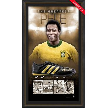 Pele Signed Boot Display
