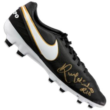 Ronaldinho Signed Boot