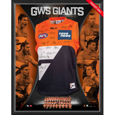 GWS GIANTS TEAM SIGNED 2017 GUERNSEY