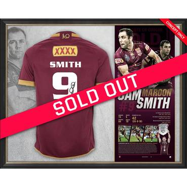 Cameron Smith Signed QLD Maroons Retirement Jersey