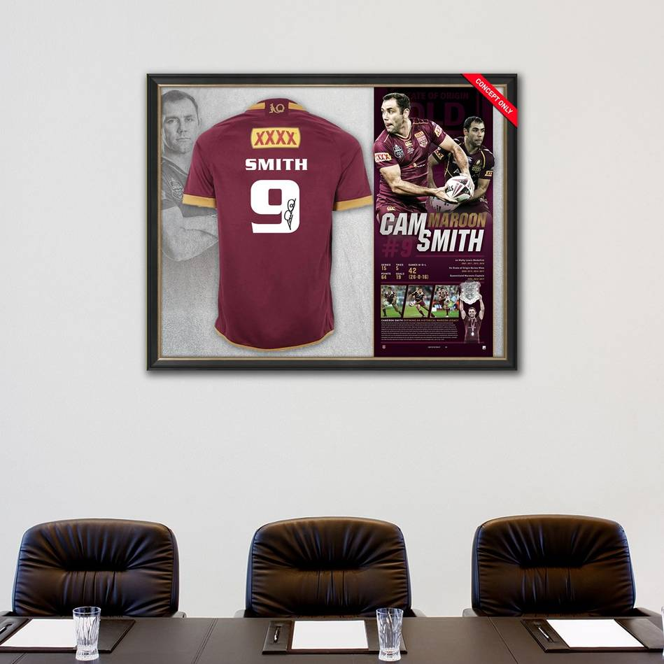 mainCameron Smith Signed QLD Maroons Retirement Jersey1
