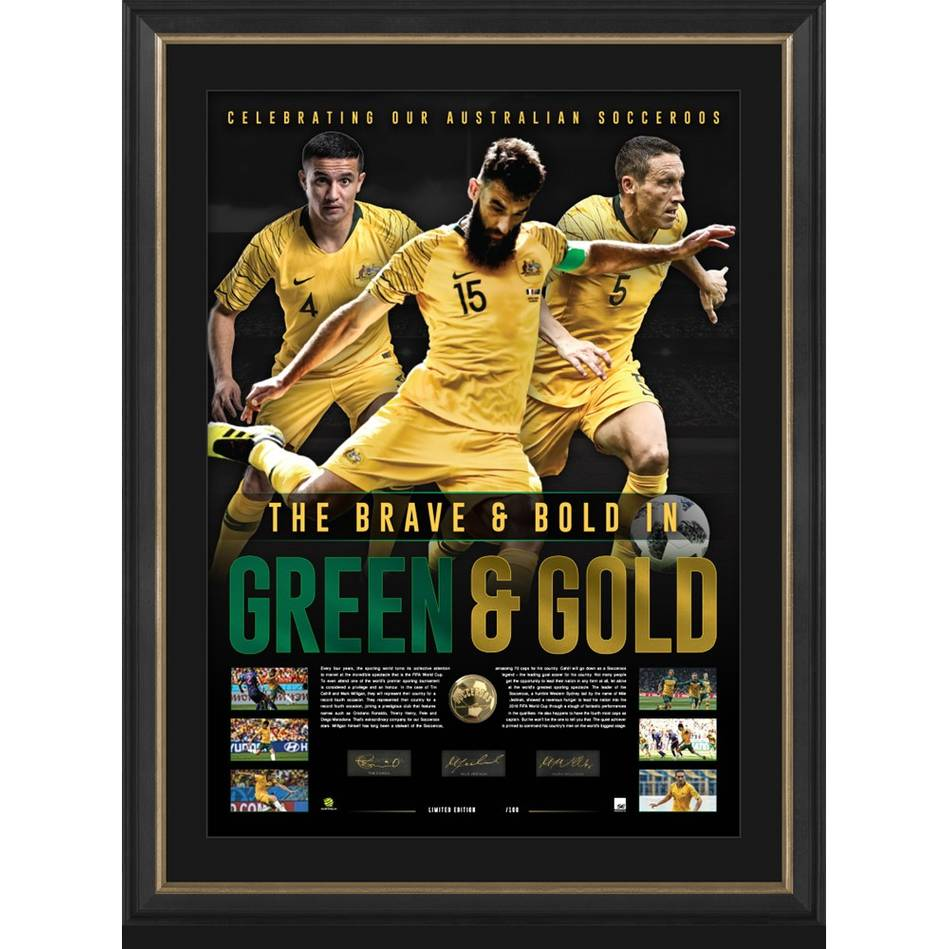 mainSocceroos Signed 'Green & Gold'0