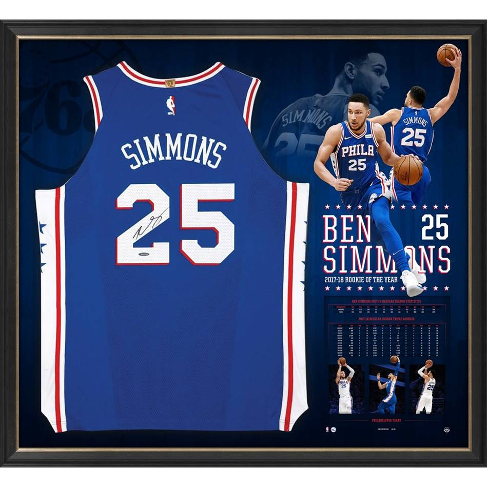 d82541f6508 Ben Simmons Signed Rookie of the Year Jersey