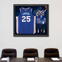 Ben Simmons Signed Rookie of the Year Jersey1