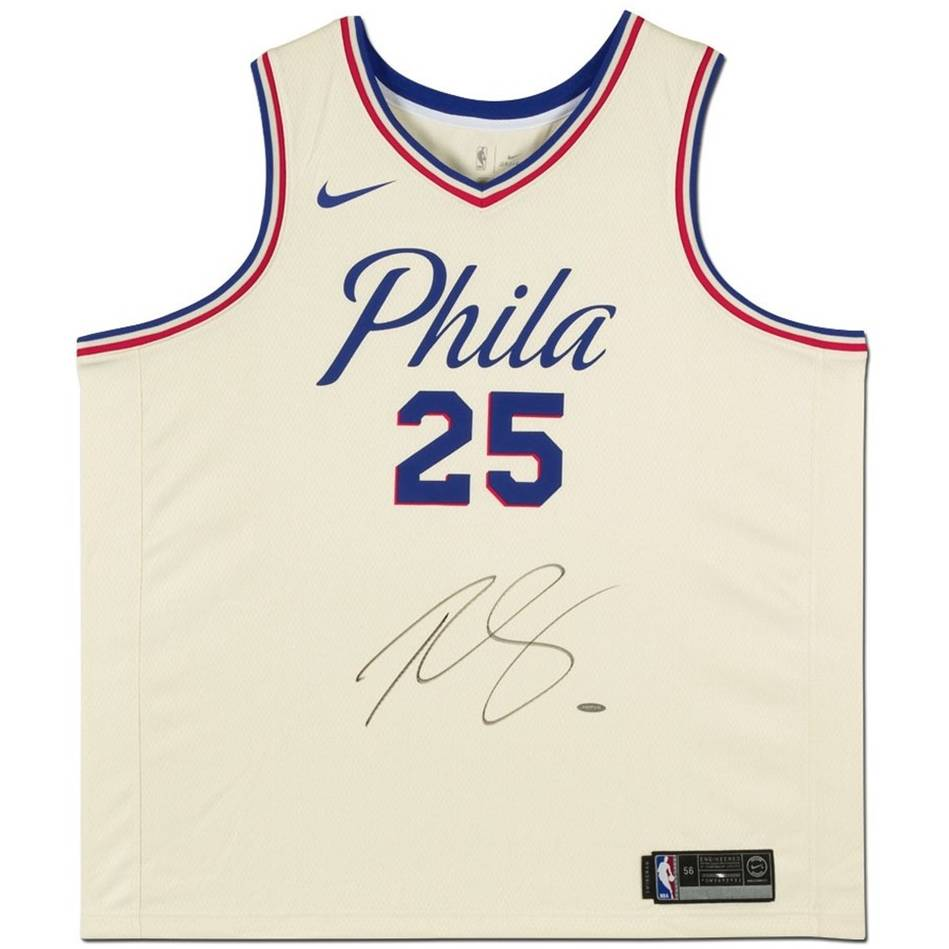 mainBen Simmons Signed 76ers City Edition Nike Jersey0