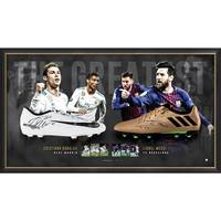 Ronaldo & Messi Signed Dual Boot Display0
