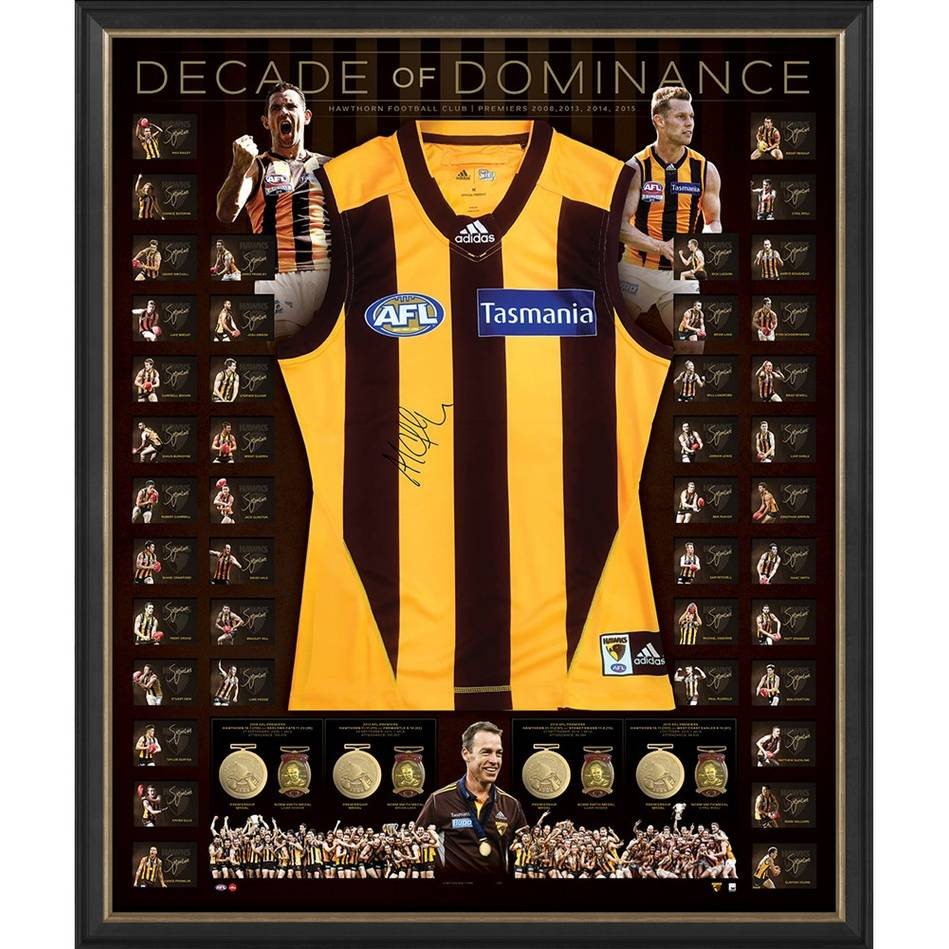 mainHawthorn 'Decade of Dominance' Signed Deluxe Guernsey0