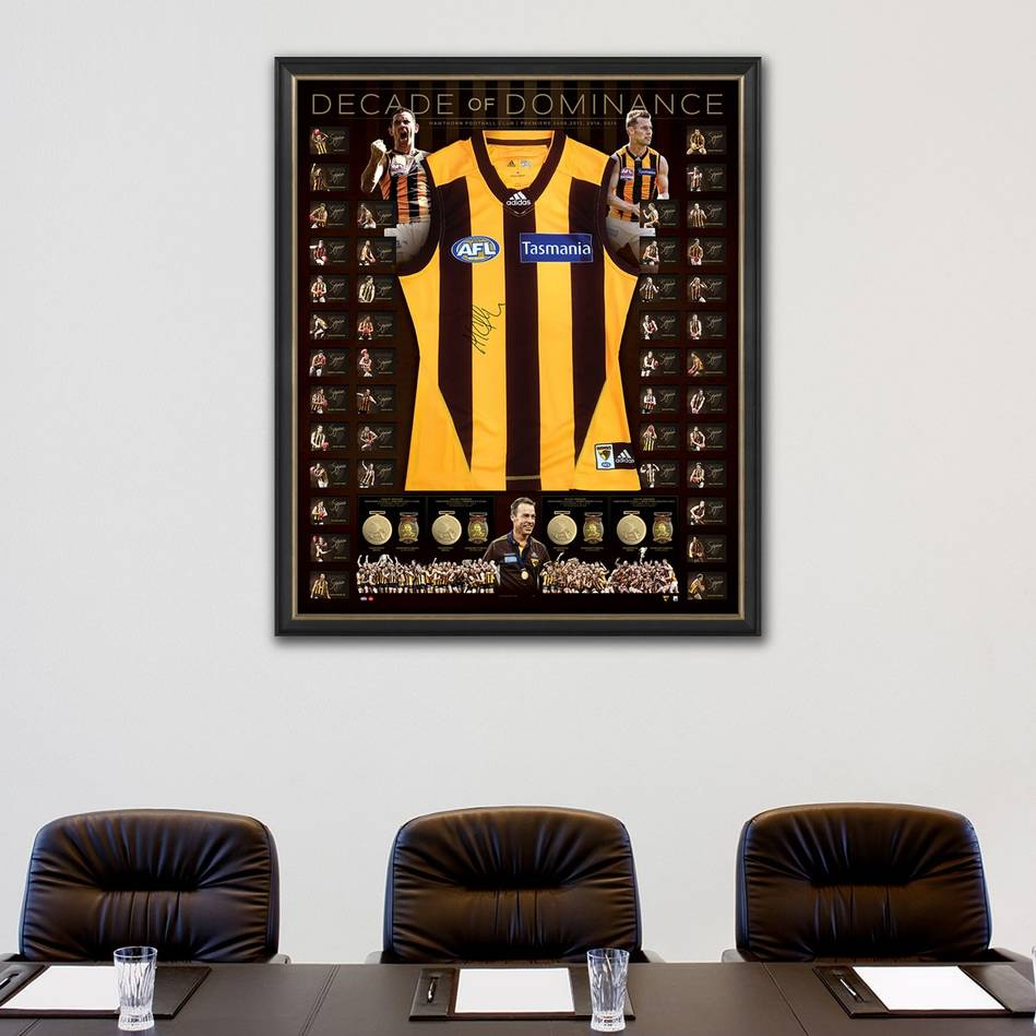 mainHawthorn 'Decade of Dominance' Signed Deluxe Guernsey1