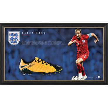 Harry Kane Signed Boot Display