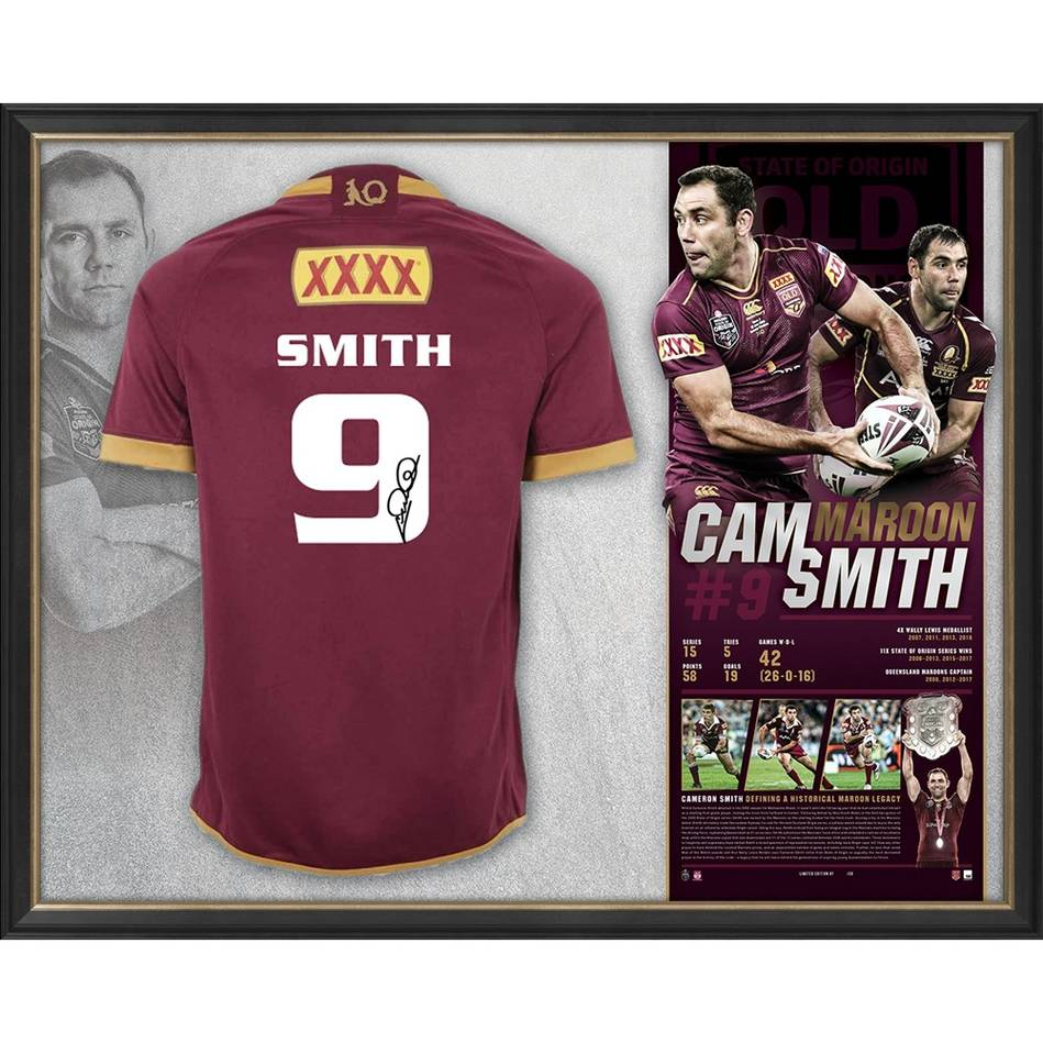 main*Edition 50/50* Cameron Smith Signed QLD Maroons Retirement Jersey0