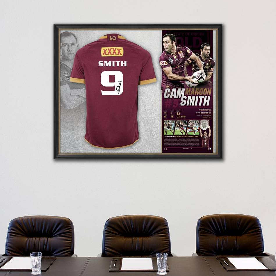 main*Edition 50/50* Cameron Smith Signed QLD Maroons Retirement Jersey1