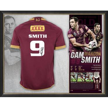 *Edition 9/50* Cameron Smith Signed QLD Maroons Retirement Jersey
