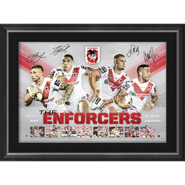 St George Illawarra Dragons Signed 'Enforcers'