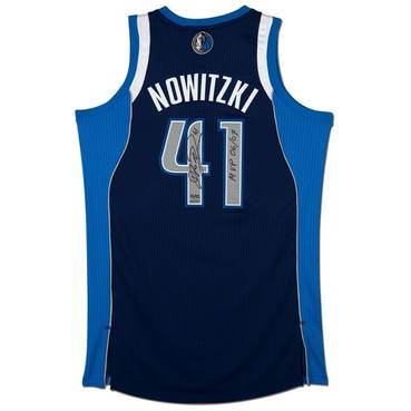 Dirk Nowitzki Signed & Inscribed 'MVP 06/07' Dallas Jersey