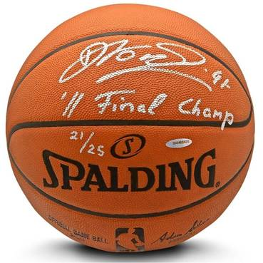 Dirk Nowitzki Signed & Inscribed Spalding Ball