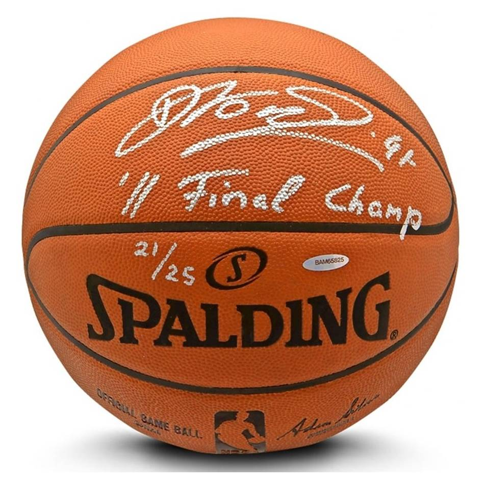 mainDirk Nowitzki Signed & Inscribed Spalding Ball0