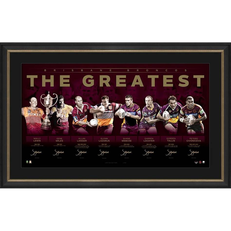 mainBrisbane Broncos Signed 'The Greatest'0