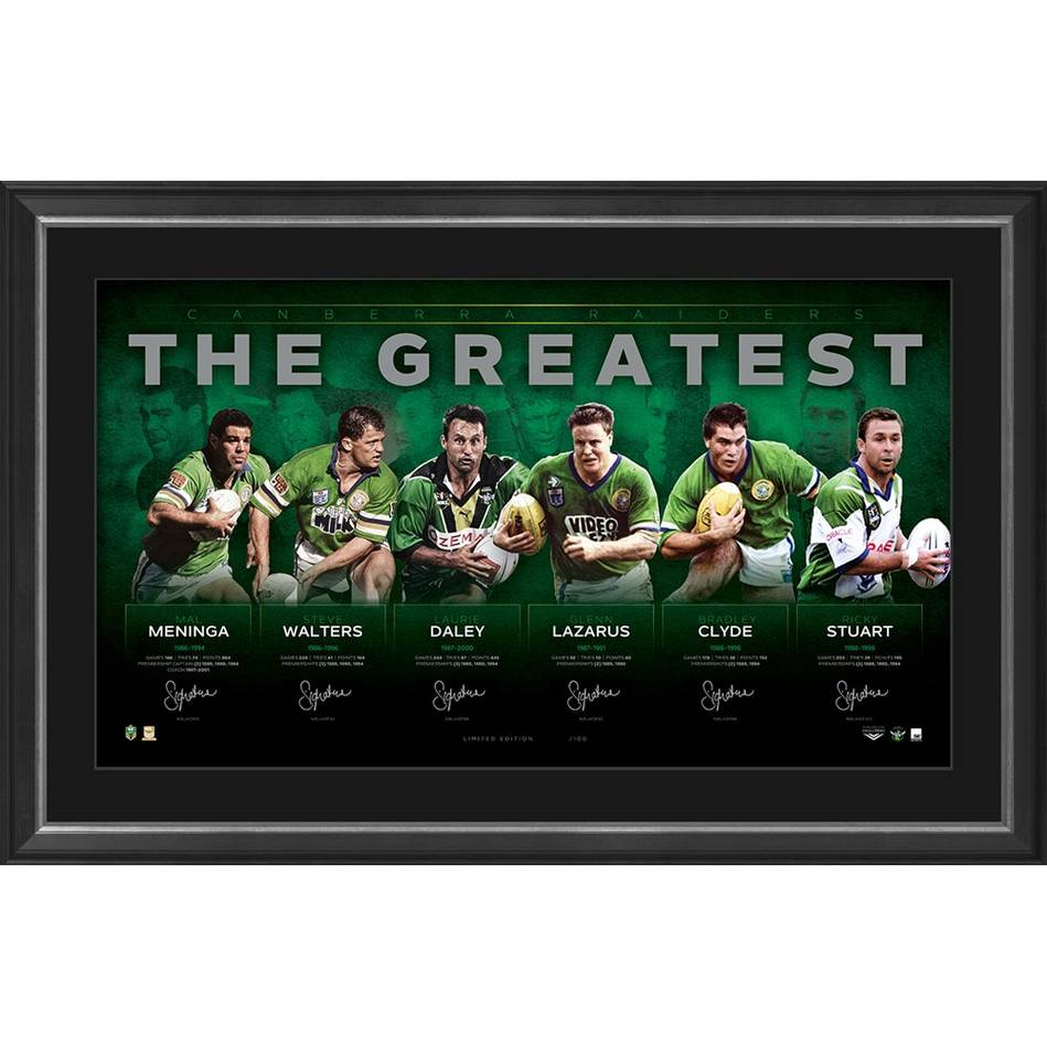 mainCanberra Raiders Signed 'The Greatest'0