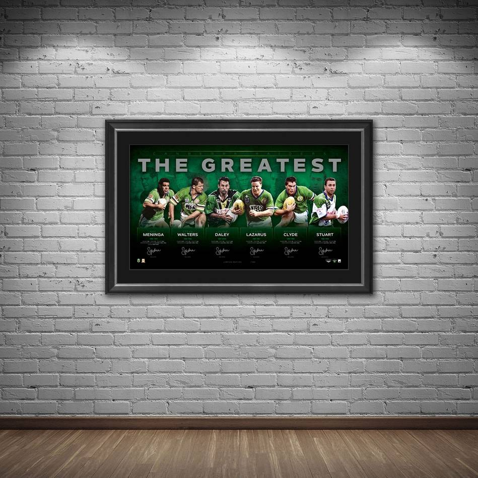 mainCanberra Raiders Signed 'The Greatest'1