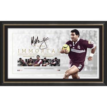 Mal Meninga Signed QLD Maroons 'Immortal'