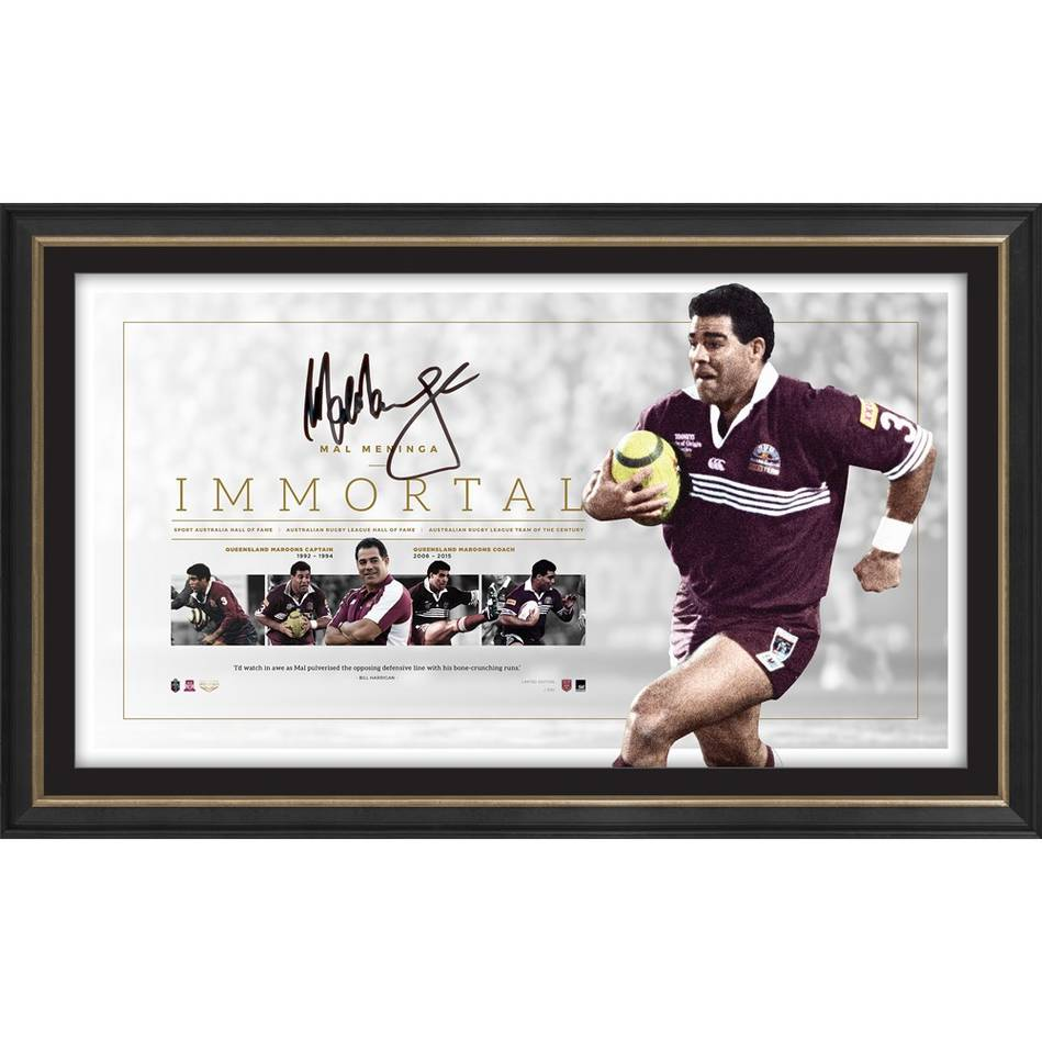 mainMal Meninga Signed QLD Maroons 'Immortal'0