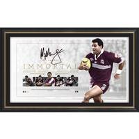 Mal Meninga Signed QLD Maroons 'Immortal'0