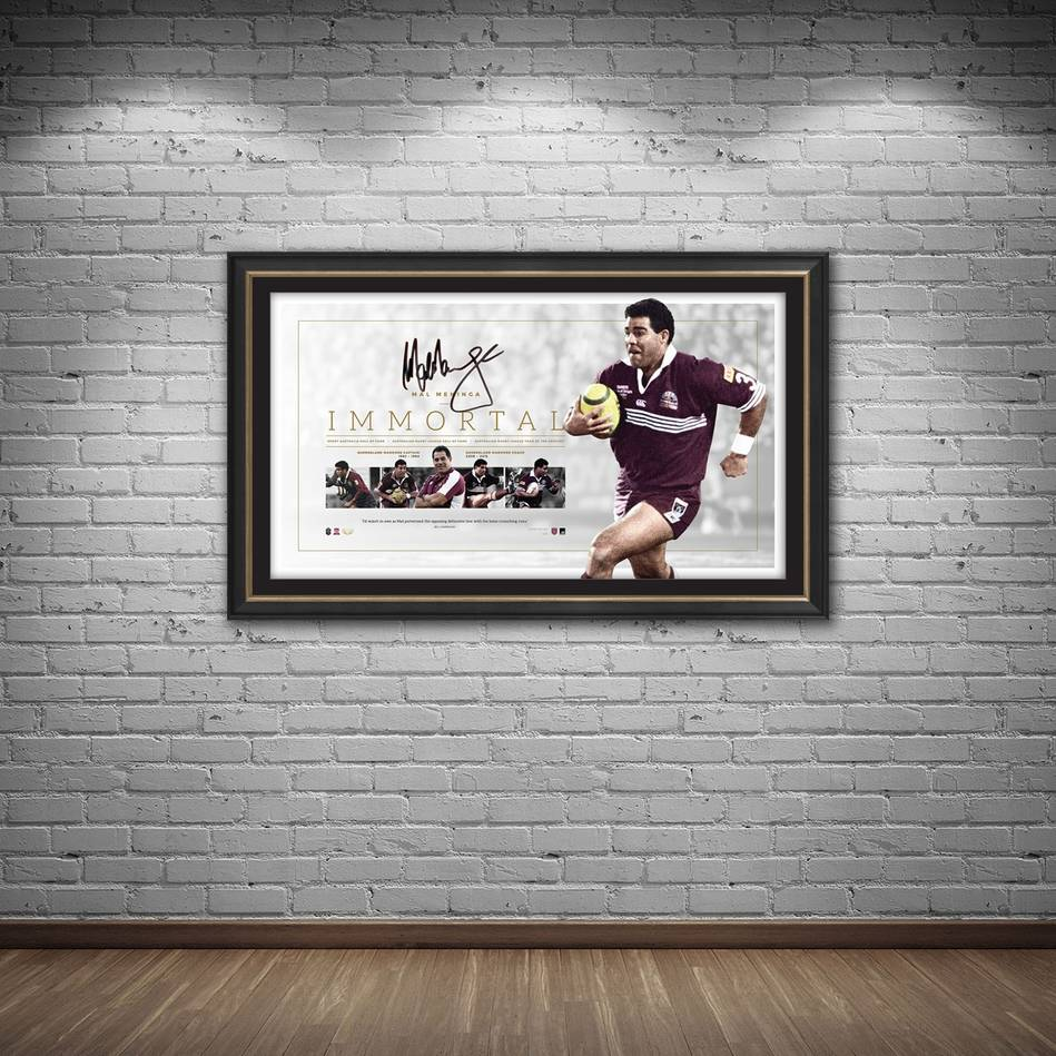 mainMal Meninga Signed QLD Maroons 'Immortal'1