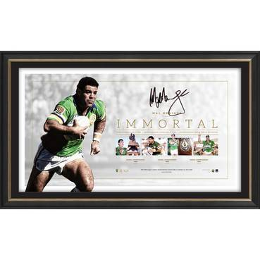 Mal Meninga Signed Canberra Raiders 'Immortal'