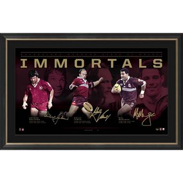 Queensland Maroons Signed  'Immortals'
