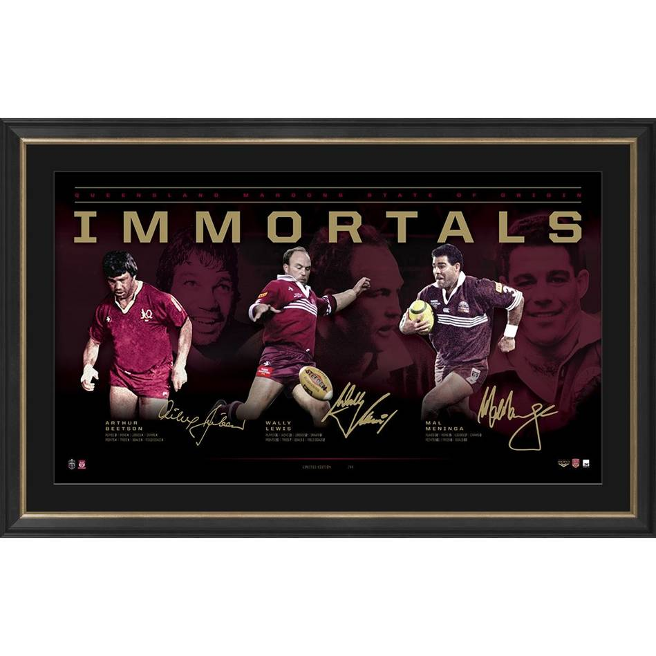 mainQueensland Maroons Signed  'Immortals'0