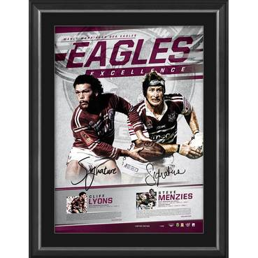 Manly Dual Signed 'Eagles Excellence'