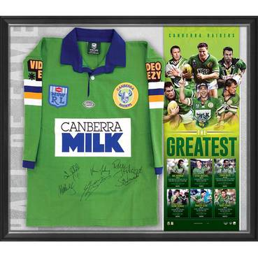 Canberra Raiders Signed 'The Greatest' Jersey