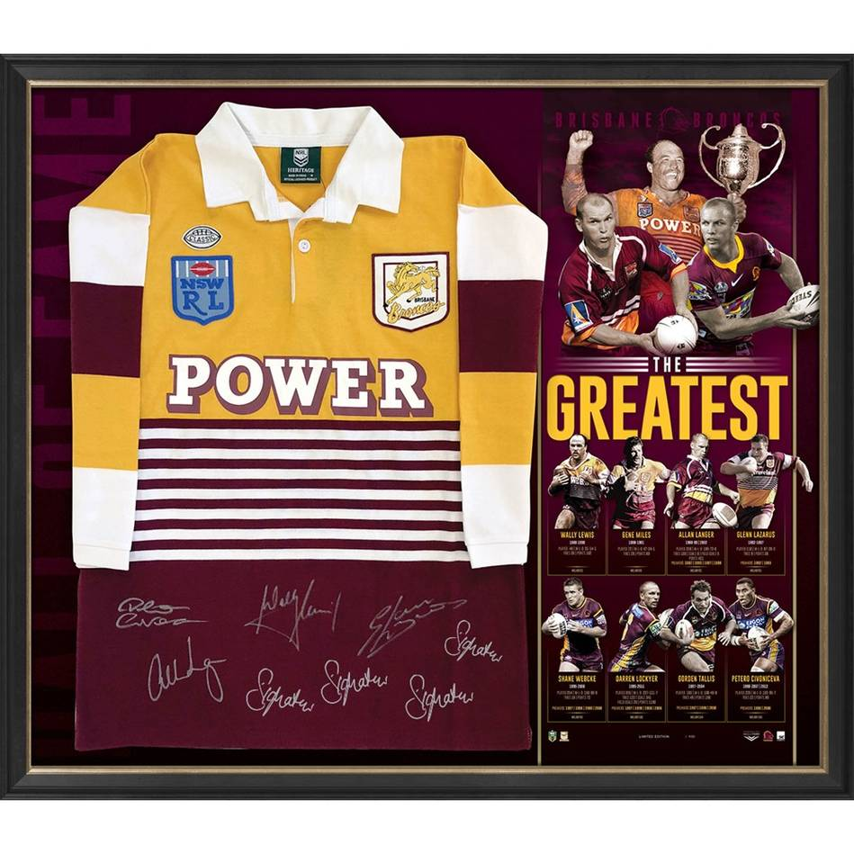 mainBrisbane Broncos Signed 'The Greatest' Jersey0