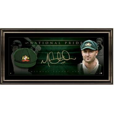 MICHAEL CLARKE SIGNED 'NATIONAL PRIDE'