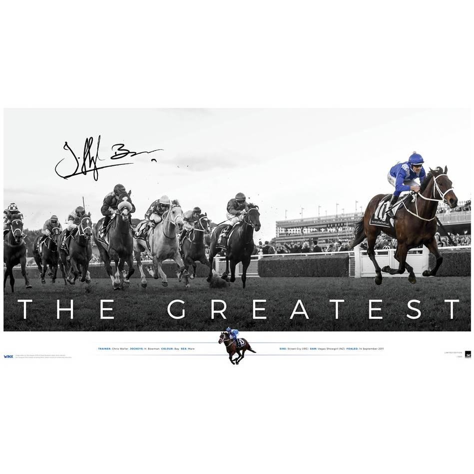 mainWinx Signed 'The Greatest' (Unframed)0