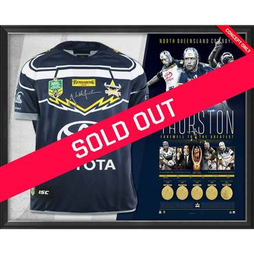 Johnathan Thurston Career Retrospective Signed Jersey