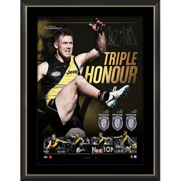 Jack Riewoldt Signed 'Triple Honour'