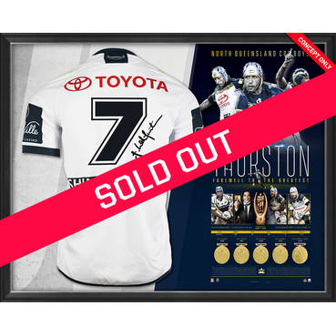 Johnathan Thurston Career Retrospective Signed Farewell Jersey