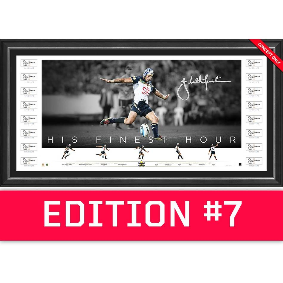 main*Edition 7* Johnathan Thurston Team Signed 'His Finest Hour'0