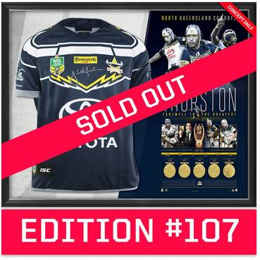 *Edition 107* Johnathan Thurston Career Retrospective Signed Jersey