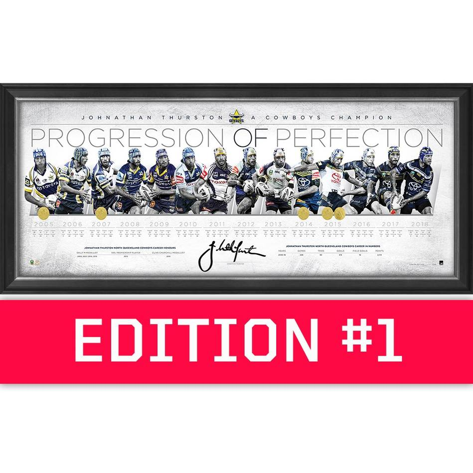 main*Edition 1* Johnathan Thurston Signed 'Progression of Perfection'0
