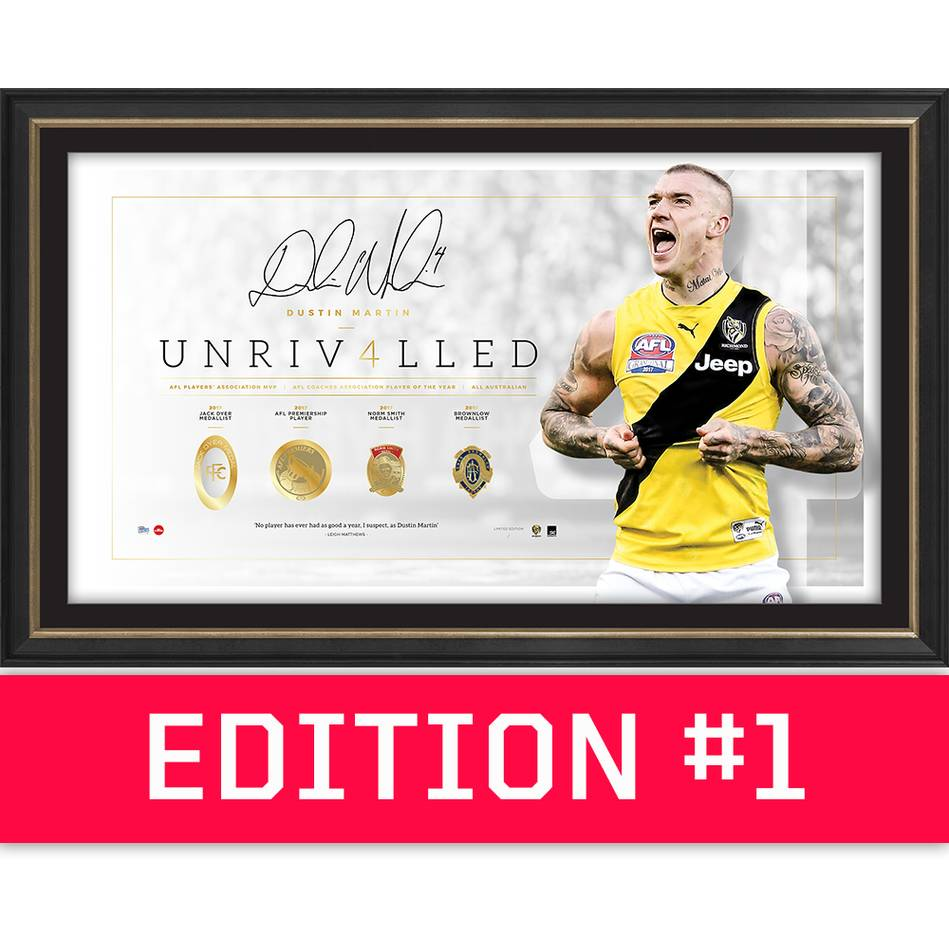 main*Edition 1* Dustin Martin Signed 'Unrivalled'0