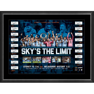 SYDNEY FC 2017 CHAMPIONS SIGNED LITHOGRAPH
