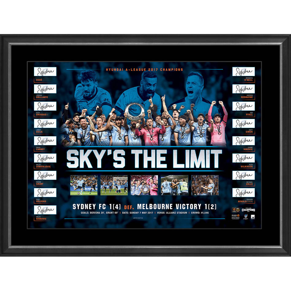 mainSYDNEY FC 2017 CHAMPIONS SIGNED LITHOGRAPH0