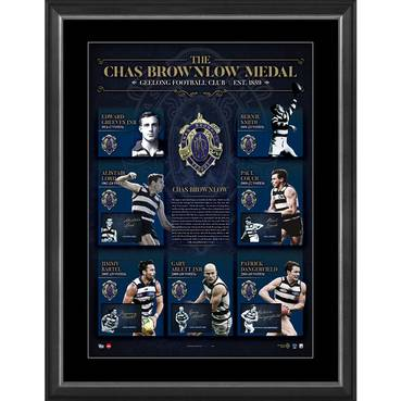 GEELONG CATS SIGNED 'HISTORY OF THE BROWNLOW'